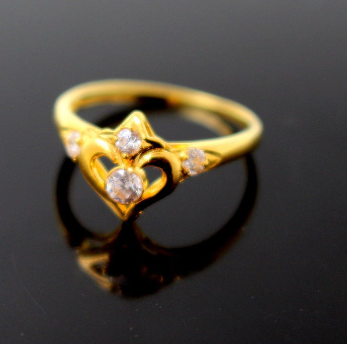 22k 22ct Solid Gold BEAUTIFUL BABY CHILD ZIRCONIA Ring BAND