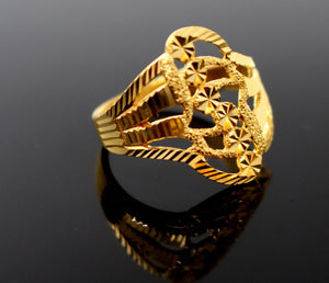 "22k Solid Gold DESIGNER DIAMOND CUT LADIES RING SIZE 8 ""RESIZABLE"" R1607"