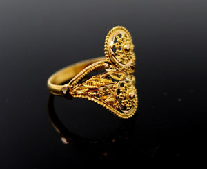 "22k 22ct Solid Gold DIAMOND CUT ROUND LADIES RING SIZE 7.8' RESIZABLE"" R1630"