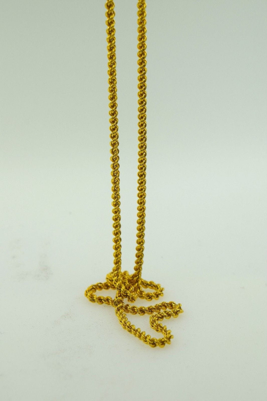22k Yellow Solid Gold Chain Rope Necklace 2.6mm 20 inch c732 | Royal Dubai Jewellers