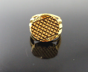 22k 22ct Solid Gold ELEGANT MENS RING BAND Size 10.0 RESIZABLE R1365