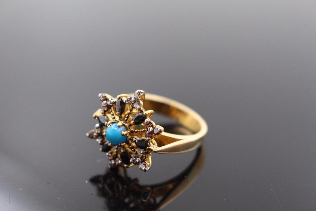 22k 22ct Solid Gold ELEGANT Antique Ladies Stone Ring SIZE 6.5