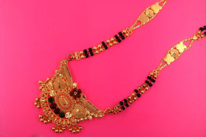22k 22ct Yellow Solid Gold BIG MANGALSUTRA DESIGN Chain Necklace PENDANT c561 | Royal Dubai Jewellers