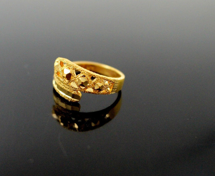 22k 22ct Solid Gold BEAUTIFUL WOMEN RING BAND Size 7.0 RESIZABLE R1383