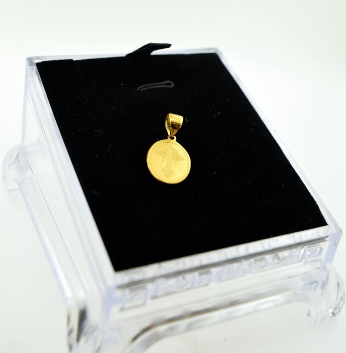 22k 22ct Solid Gold pendant charm locket Jesus Christ Christian p236 | Royal Dubai Jewellers