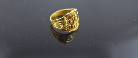 "22k 22ct Solid Gold ELEGANT BABY KIDS Ring ""RESIZABLE"" mf r244"