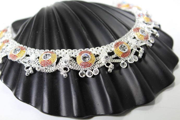 2PC HANDMADE Solid Silver Payal 925 sbb34 Sterling adult ladies Anklets | Royal Dubai Jewellers