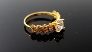 "22k 22ct Solid Gold DIAMOND CUT LADIES RING SIZE 6.5' RESIZABLE"" R1633 
