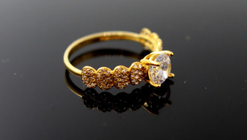 "22k 22ct Solid Gold DIAMOND CUT LADIES RING SIZE 6.5' RESIZABLE"" R1633"