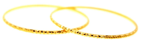 21k 21ct Solid Gold ELEGANT BABY KIDS BRACELET CHARM BANGLE Modern Design cb1139 - Royal Dubai Jewellers
