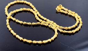 22k Chain Yellow Solid Gold Rope Necklace Unique Design 19 inch c568a