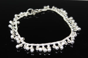 1PC HANDMADE Solid Silver Payal 925 sbb16 Sterling adult ladies Anklets