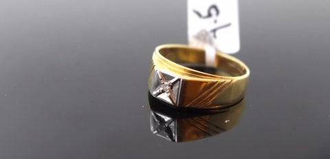 "22k 22ct Solid Gold ELEGANT Men Ring SIZE 9 ""RESIZABLE"" R780"