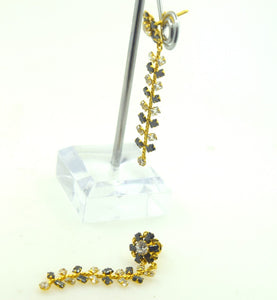 22k 22ct Solid Gold ELEGANT LONG EARRING DANGLING HANGING with free box E587 | Royal Dubai Jewellers