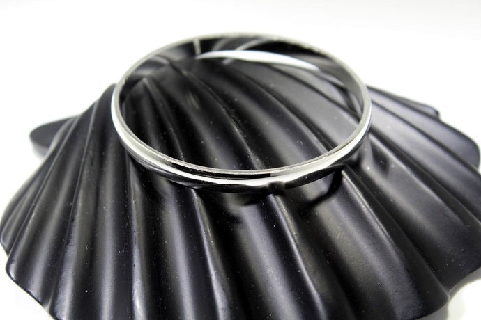 1PC HANDMADE Men b17 Solid Sterling Silver 925 size 2.50 inch kara Bangle Cuff