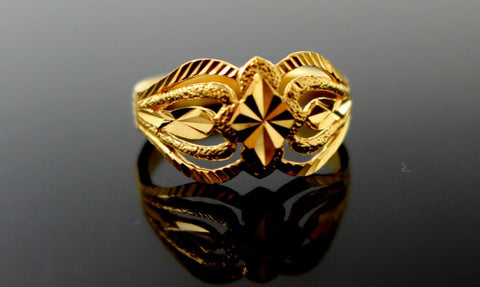 22k 22ct Solid Gold BEAUTIFULWOMEN RING BAND Size 7.0 RESIZABLE R1375