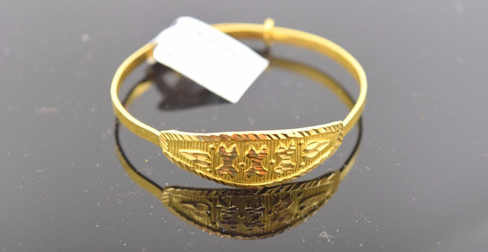 22k 22ct Solid Gold ELEGANT BABY CHILDREN BANGLE BRACELET CUFF cb2064