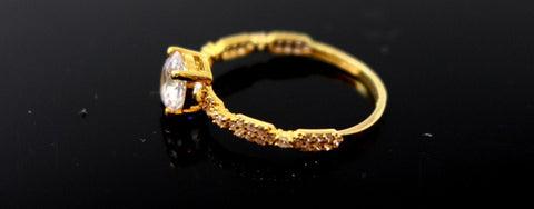 "22k 22ct Solid Gold DIAMOND CUT LADIES RING SIZE 6.5' RESIZABLE"" R1623"
