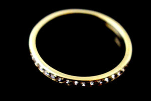 "22k 22ct Solid Gold ELEGANT ZIRCON BAND Ring SIZE : 7.5 ""RESIZABLE"" R1588"