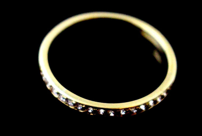 22k 22ct Solid Gold ELEGANT ZIRCON BAND Ring SIZE : 7.5