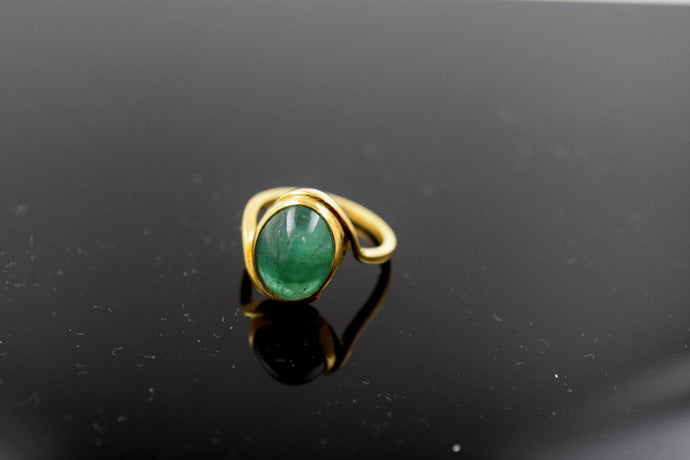 22k Solid Gold ELEGANT Ring BAND Turquoises Stone