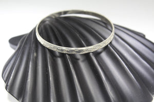 1PC HANDMADE women b47 Solid Sterling Silver 925 size 2.5 inch kara Bangle Cuff