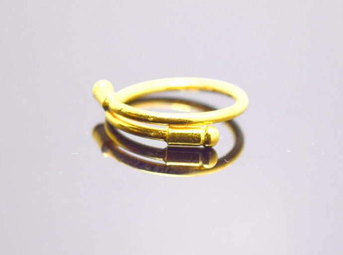 22k Jewelry Solid Gold Elegant Band Ring With Modern Design