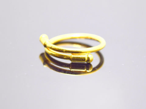 "22k Jewelry Solid Gold Elegant Band Ring With Modern Design ""resizable"" R75"