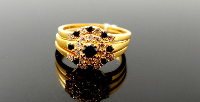 22k 22ct Solid Gold Ladies Ring Three in One Design SIZE 7.5