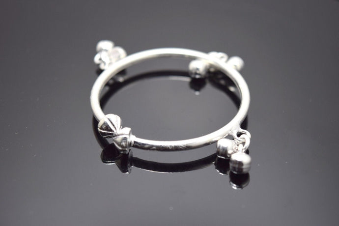 2PC HANDMADE Baby Solid Silver Bracelet 925 sb38 Sterling Children Bangle Cuff