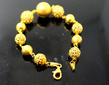 21k 21ct Gold ELEGANT LADIES DESINGER BALL HOOK BRACELET B843 - Royal Dubai Jewellers