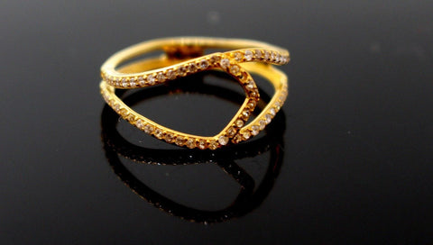 "22k 22ct Solid Gold LADIES RING JACKETS SIZE 7.0"" RESIZABLE"" R1635"