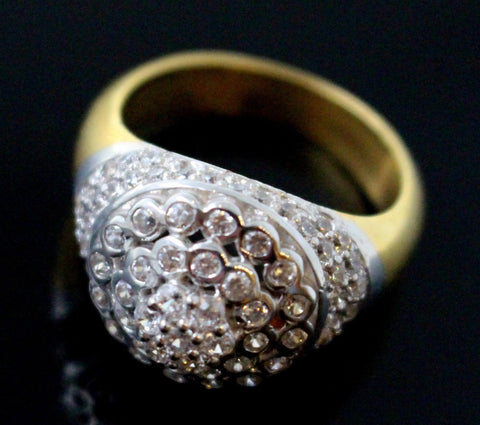 "22k 22ct Solid Gold EXQUISITE Stone MEN Ring ""RESIZABLE"" size8.5 r1586"