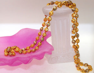 22k Yellow Solid Gold Chain Necklace Two Tone Ball Design Length 26 inch c0150 | Royal Dubai Jewellers