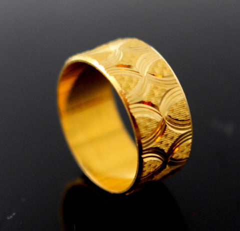 "22k 22ct Solid Gold ELEGANT Band Ring ""NON RESIZABLE"" size 5.5 R1240 - Royal Dubai Jewellers"