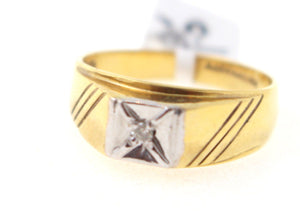"22k 22ct Solid Gold ELEGANT Men Ring SIZE 9 ""RESIZABLE"" R780 