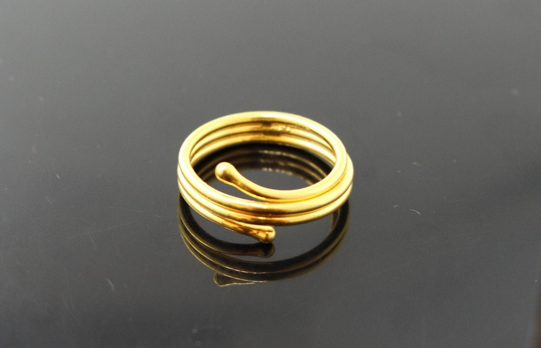 22k 22ct Solid Gold distinct modern style women ring band