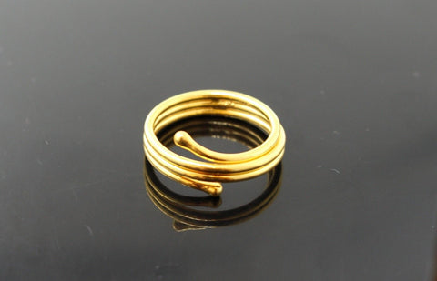 "22k 22ct Solid Gold distinct modern style women ring band ""RESIZABLE"" mf"