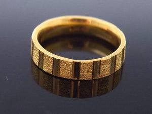 "22k 22ct Solid Gold LASER CUT UNISEX Ring BAND ""RESIZABLE"" size 13.5 r784 
