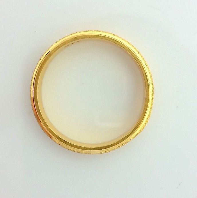 22k Solid Gold Ring Size 10.75 custom size available with unique box 200