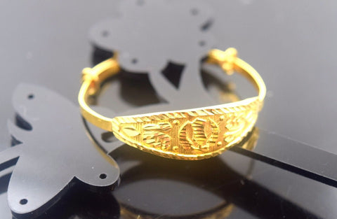 22k Jewelry Solid Gold ELEGANT PLAIN BABY CHILDREN BANGLE BRACELET cb332