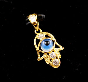 22k 22ct Solid Gold Elegant Modern Design Arabic Eye Shape Pendant p693 | Royal Dubai Jewellers