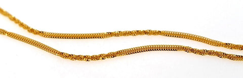 22k 22ct Yellow Solid Gold Elegant Twisted PLain Thick Chain 18in c885