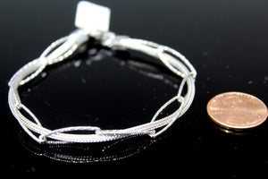 1PC HANDMADE cj29 Solid Sterling Silver 925 women modern charm style braclet | Royal Dubai Jewellers