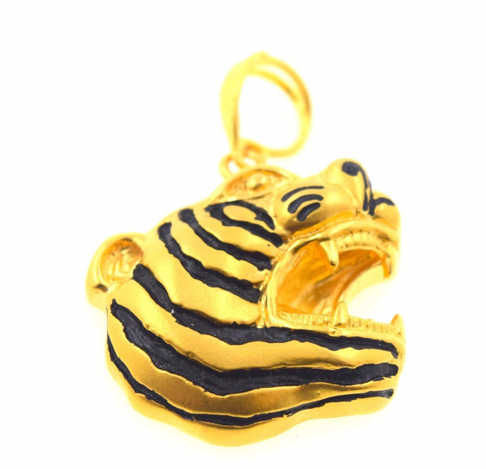 22k 22ct Solid Gold ELEGANT TIGER FACE pendant locket p583