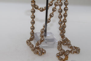 22k Yellow Solid Gold Chain Necklace Two Tone Ball Design Length 26 inch c385 | Royal Dubai Jewellers