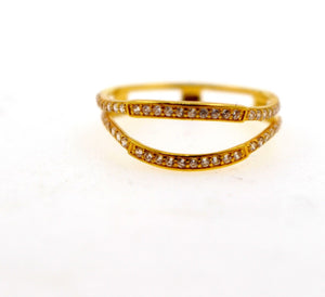 "22k 22ct Solid Gold LADIES RING JACKETS SIZE 6.5"" RESIZABLE"" R1626 