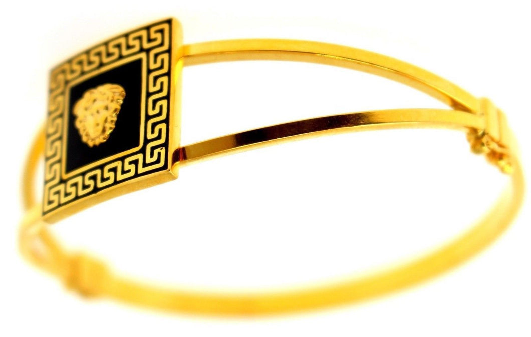 21k 21ct Solid Gold ELEGANT Ladies Designer BANGLE Modern Design b854 | Royal Dubai Jewellers