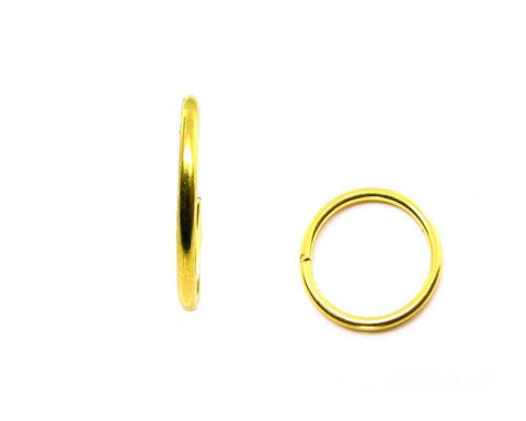 Simple wire nose ring Solid 22K Real Gold septum nostril Piercing hoop 20g USA