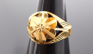 "22k 22ct Solid Gold ELEGANT LADIES Ring Flower Design SIZE 7.5 ""RESIZABLE"" R1075 